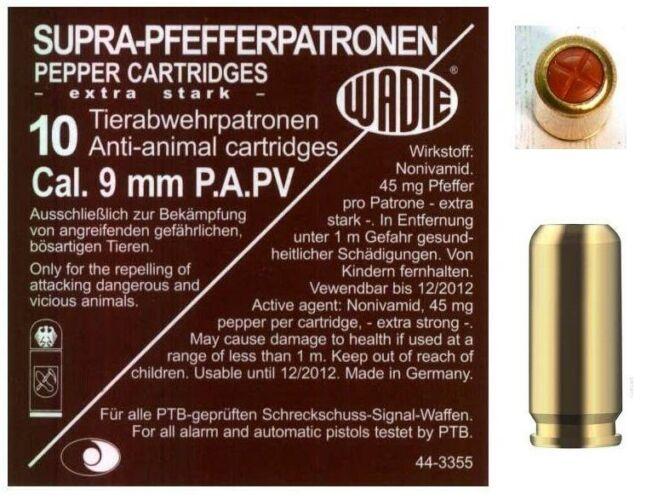 Image of 9mm PA PV-Supra Pepper gáztöltény 120mg