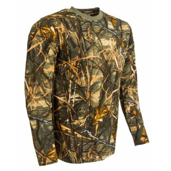 Póló, hosszú ujjú, sárga hardwood színben