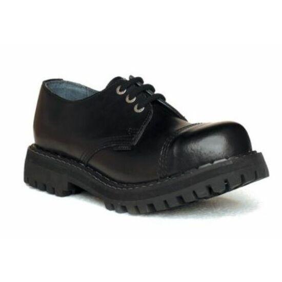 Steel Boots bakancs, 3 lyukú, fekete színben, 43-as méret