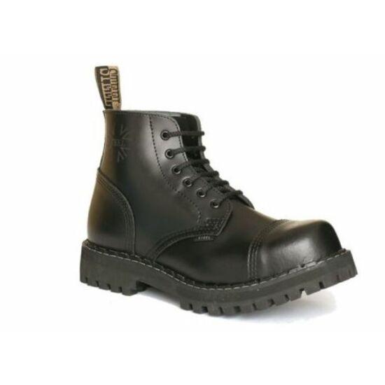 Steel Boots bakancs, 6 lyukú, fekete színben, 41-es méret