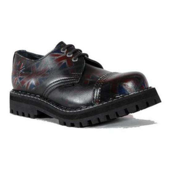 Steel Boots bakancs 3 lyukú UK fekete