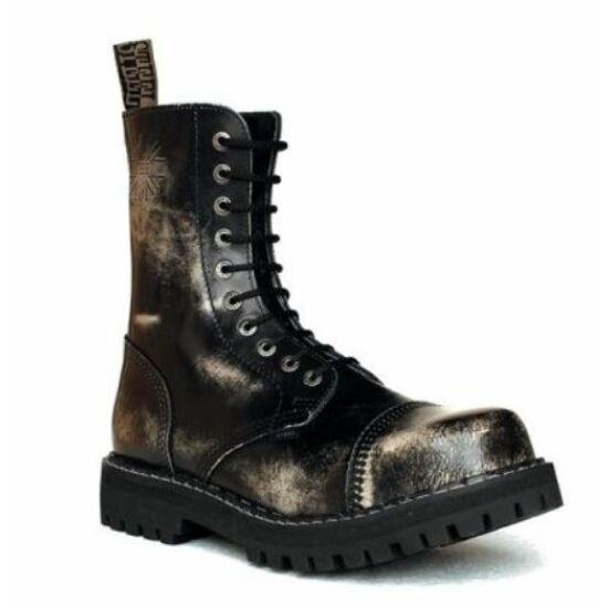Steel Boots bakancs, 10 lyukú, fehér színben, 39-es méret