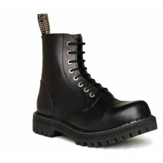 Steel Boots bakancs, 8 lyukú, fekete színben, 37-es méret