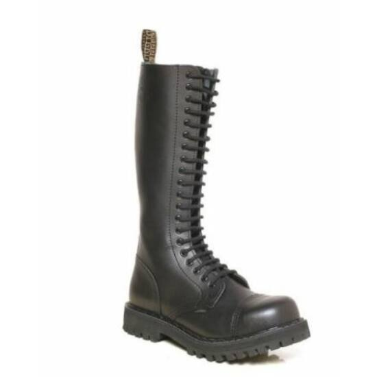 Steel Boots bakancs, 20 lyukú, fekete színben, 40-es méret