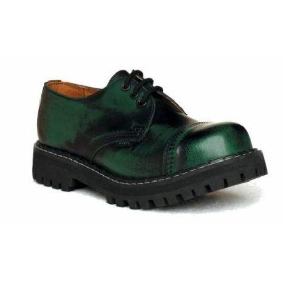 Steel Boots bakancs, 3 lyukú, zöld színben, 42-es méret