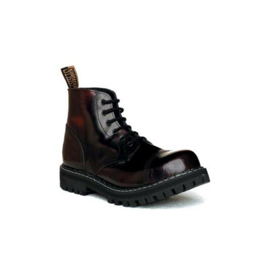 Steel Boots bakancs, 6 lyukú, bordó színben 37-es és 47-es méret