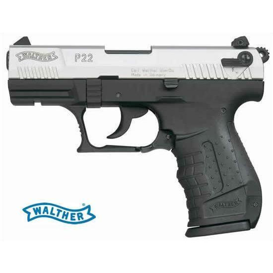 Walther P22 Nikkel 9mm PAK gázpisztoly