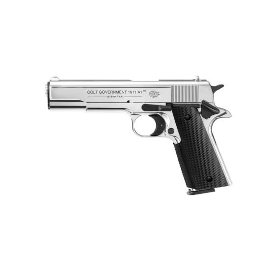 Colt Government 1911A1 Polirozott króm 9mm PAK gázpisztoly