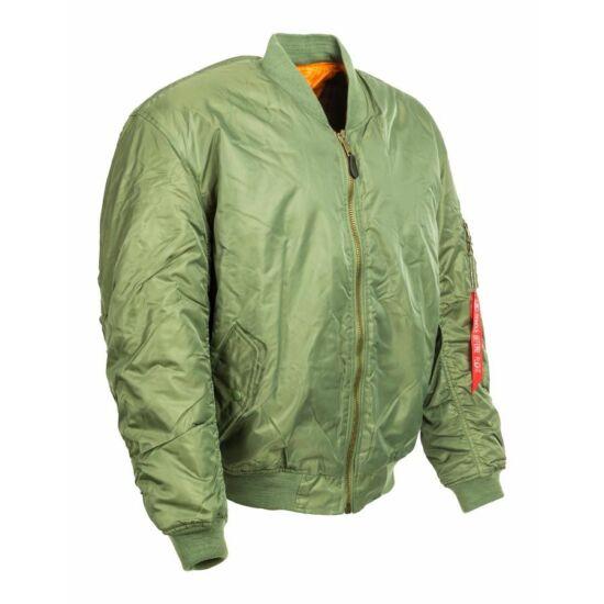 MA-1 Bomberdzseki, zöld, L-es méret