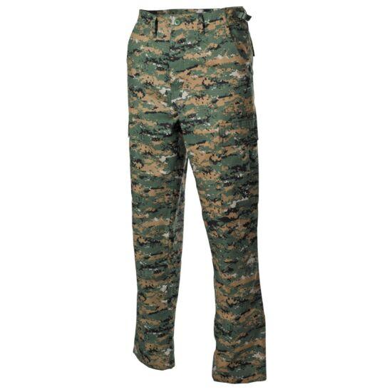 US ARMY Bevetési nadrág Rip-stop, digital woodland szín