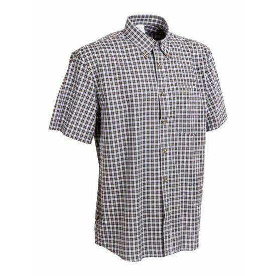 M-Tramp Herne rövid ujjú ing, fehér kockás 4XL-es méret