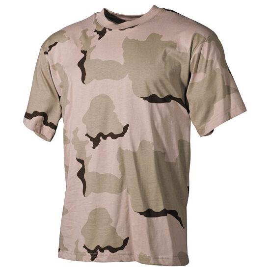 U.S. rövid ujjú póló,3 színű sivatagi terep színben