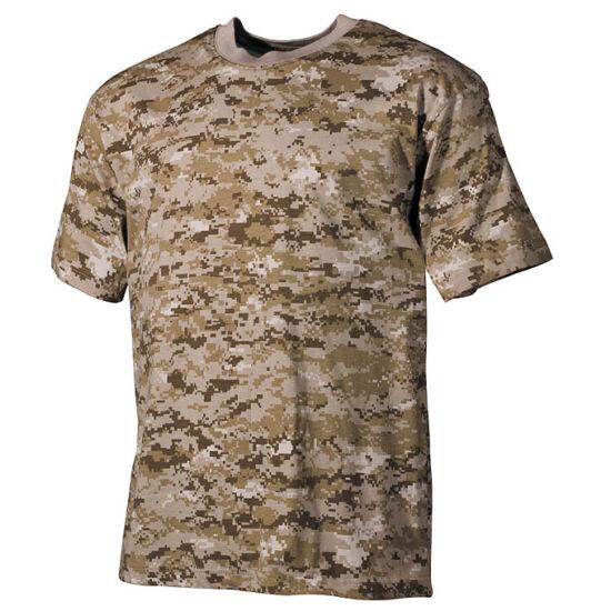 U.S. rövid ujjú póló,3 színű sivatagi digital színben