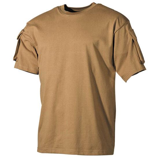 U.S. rövid ujjú póló, coyote színben, L-es méret
