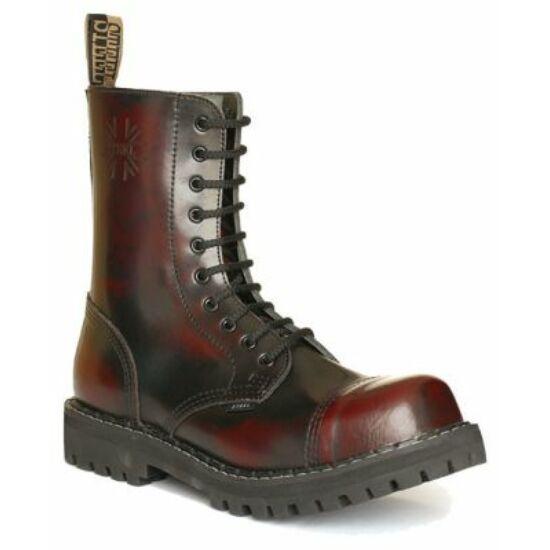 Steel Boots bakancs, 10 lyukú, bordó színben