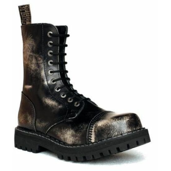 Steel Boots bakancs, 10 lyukú, fehér színben