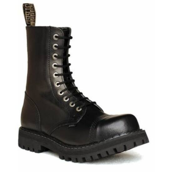 Steel Boots bakancs, 10 lyukú, fekete színben