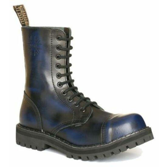 Steel Boots bakancs, 10 lyukú, kék színben