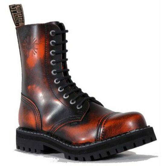 Steel Boots bakancs, 10 lyukú, narancs színben