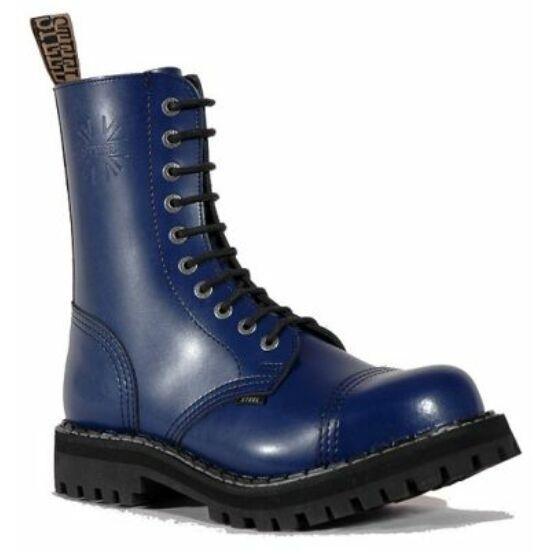 Steel Boots bakancs, 10 lyukú, tiszta kék színben
