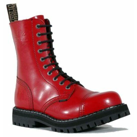 Steel Boots bakancs, 10 lyukú, tiszta piros színben