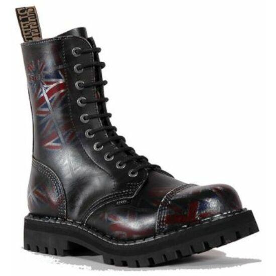 Steel Boots bakancs, 10 lyukú, UK fekete színben