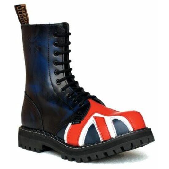 Steel Boots bakancs,10 lyukú, UK zászló színben