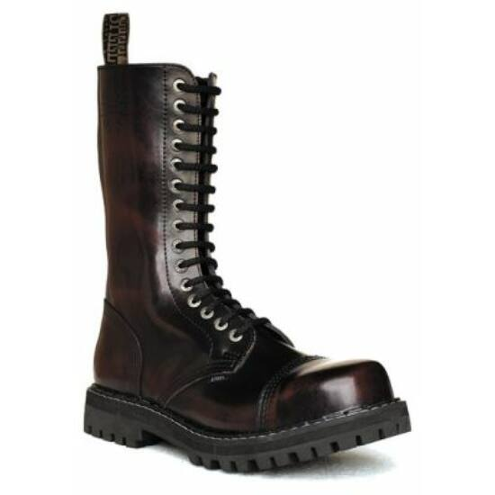 Steel Boots bakancs, 15 lyukú, bordó színben