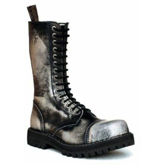Steel Boots bakancs, 15 lyukú, fehér színben