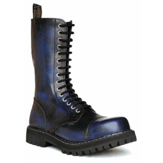 Steel Boots bakancs, 15 lyukú, kék színben