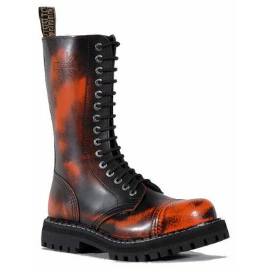 Steel Boots bakancs, 15 lyukú, narancs színben