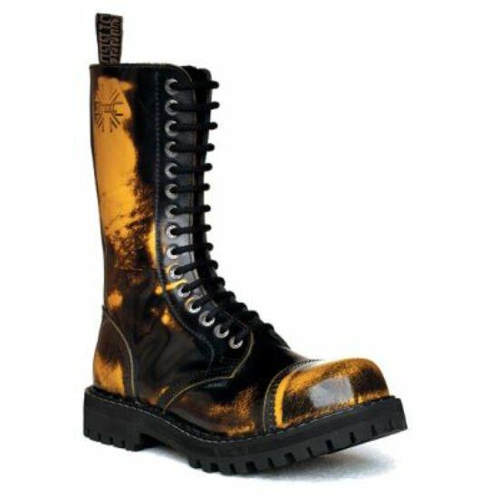 Steel Boots bakancs, 15 lyukú, sárga színben