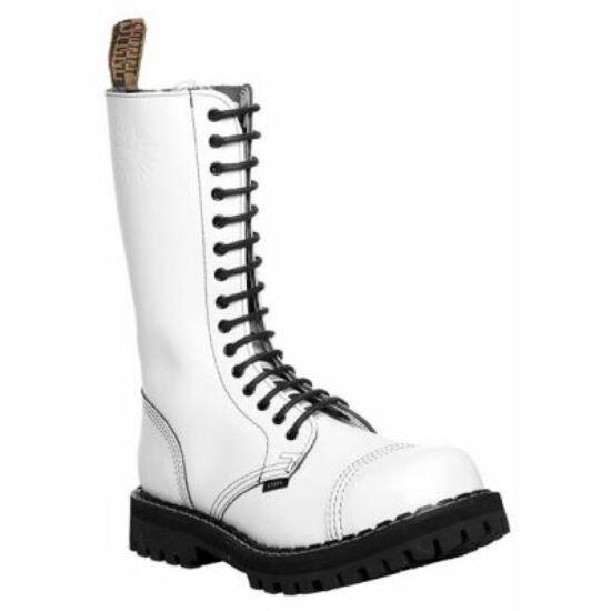 Steel Boots bakancs, 15 lyukú, tiszta fehér színben