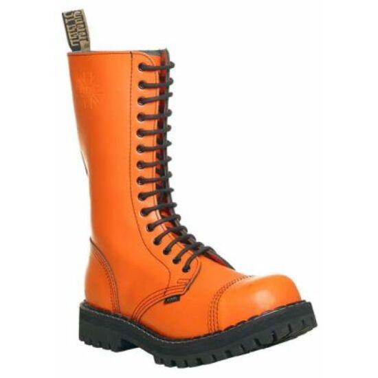 Steel Boots bakancs, 15 lyukú, tiszta narancs színben