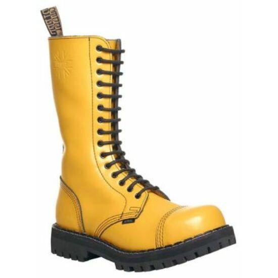 Steel Boots bakancs, 15 lyukú, tiszta sárga színben