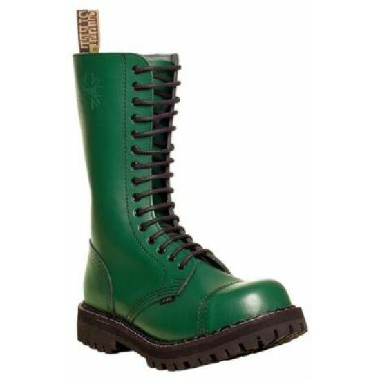 Steel Boots bakancs, 15 lyukú, tiszta zöld színben