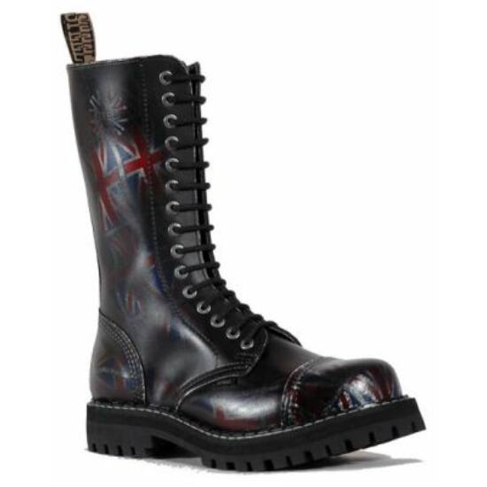 Steel Boots bakancs, 15 lyukú, UK fekete színben