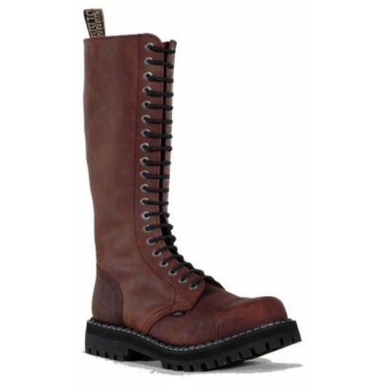 Steel Boots bakancs, 20 lyukú, barna színben