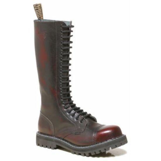 Steel Boots bakancs, 20 lyukú, bordó színben