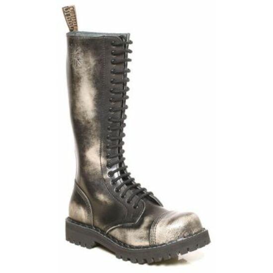 Steel Boots bakancs, 20 lyukú, fehér színben
