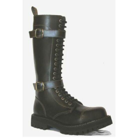 Steel Boots bakancs, 20 lyukú, fekete színben, csatos