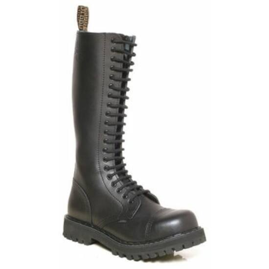 Steel Boots bakancs, 20 lyukú, fekete színben