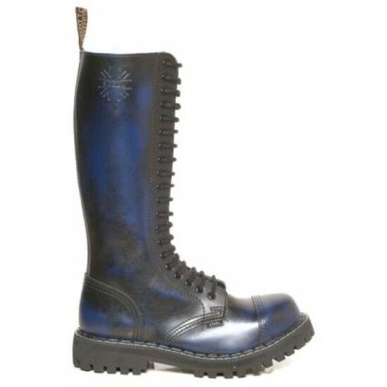 Steel Boots bakancs, 20 lyukú, kék színben