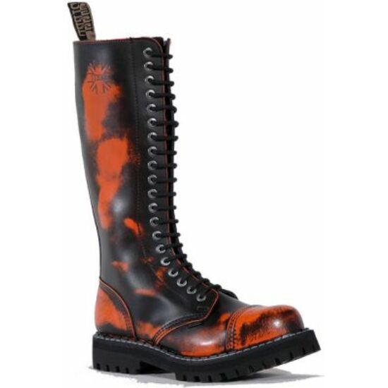 Steel Boots bakancs, 20 lyukú, narancs színben