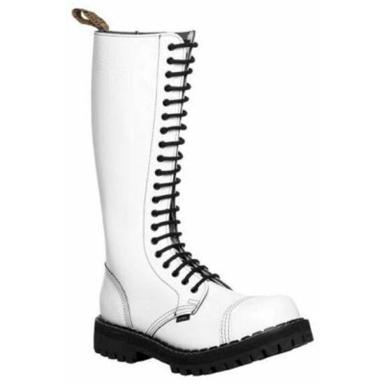Steel Boots bakancs, 20 lyukú, tiszta fehér színben