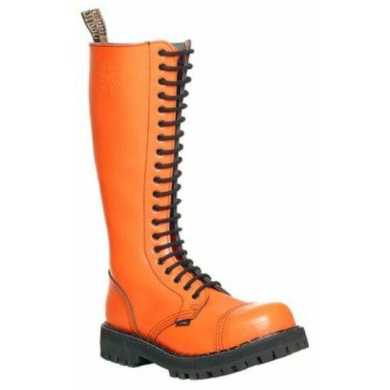 Steel Boots bakancs, 20 lyukú, tiszta narancs színben