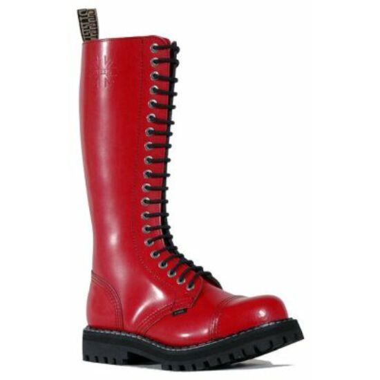 Steel Boots bakancs, 20 lyukú, tiszta piros színben