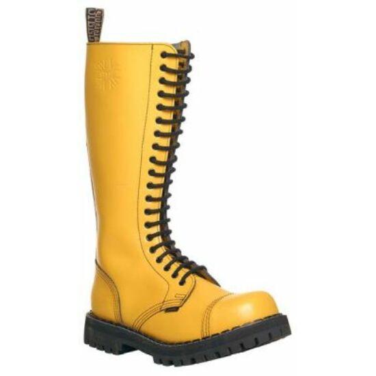 Steel Boots bakancs, 20 lyukú, tiszta sárga színben