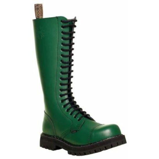 Steel Boots bakancs, 20 lyukú, tiszta zöld színben