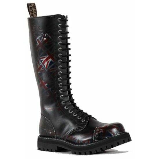 Steel Boots bakancs, 20 lyukú, UK fekete színben